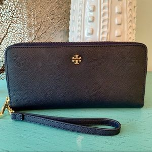 Tory Burch Navy Continental Wallet